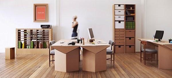 Contoh furniture dari kardus