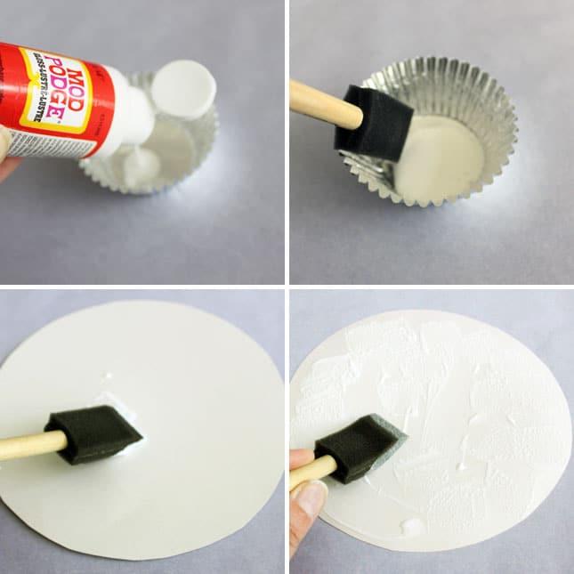 Ratakan lem ke alas mousepad